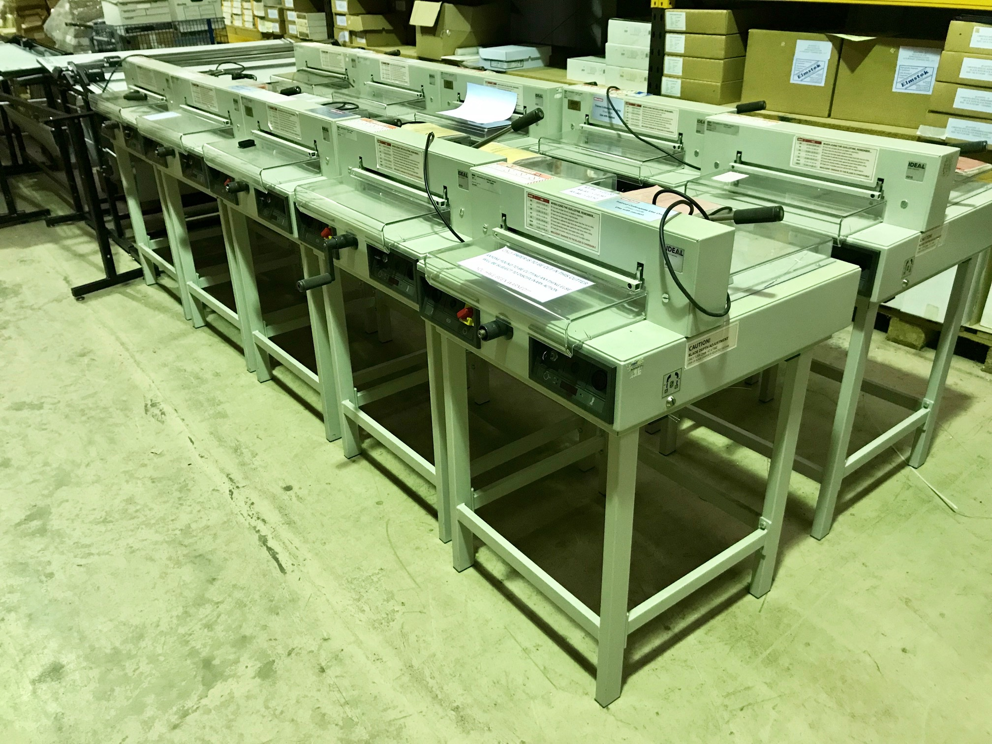 IDEAL 4315 Guillotines Now Available At Low Prices - Recovered From Ex-Stationery Chain