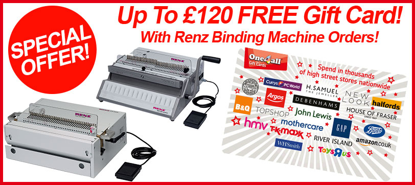 Renz Binding Machine FREE Gift Card Offer Giveaway