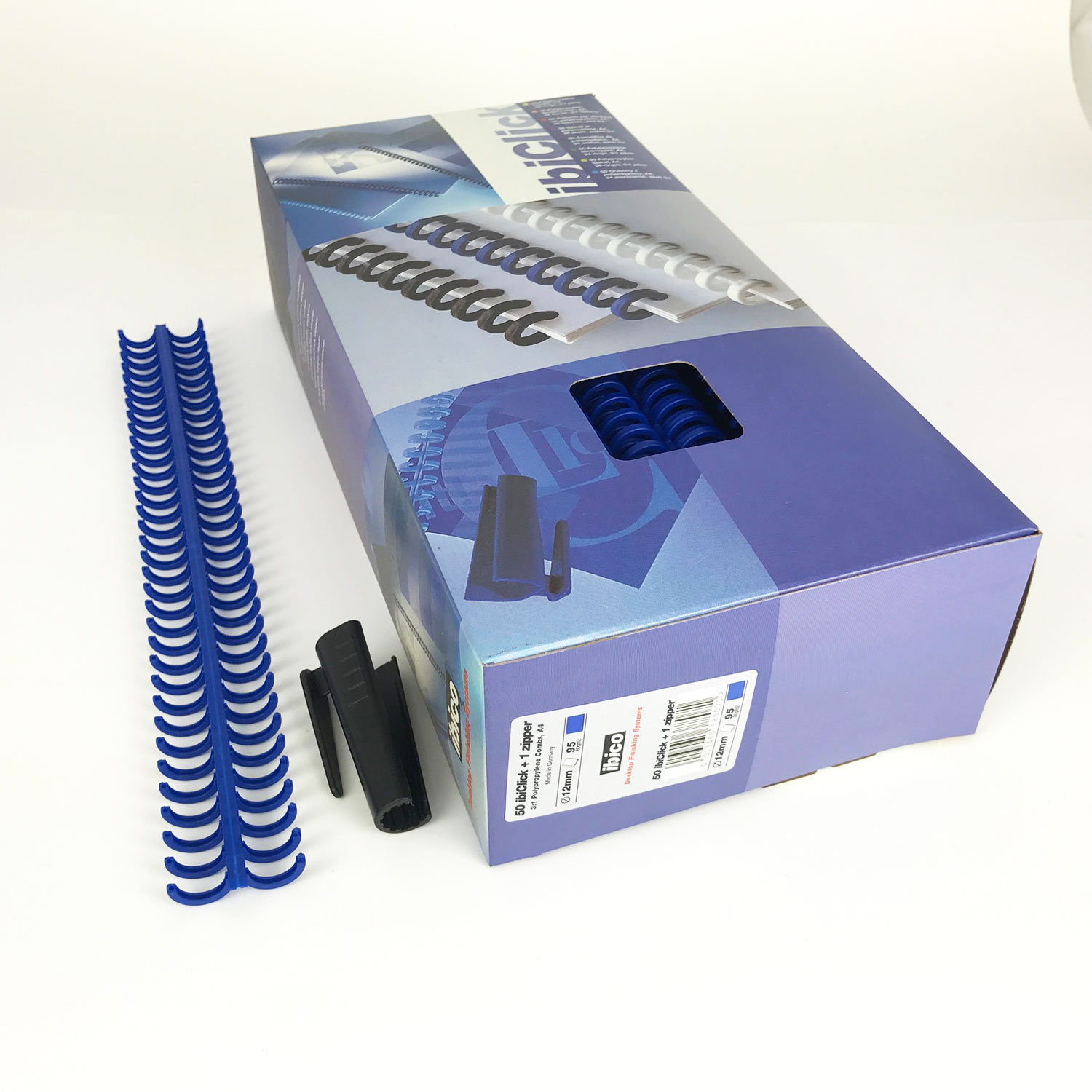 GBC Ibiclick ClickBind A4 Spines 12mm Blue (250)