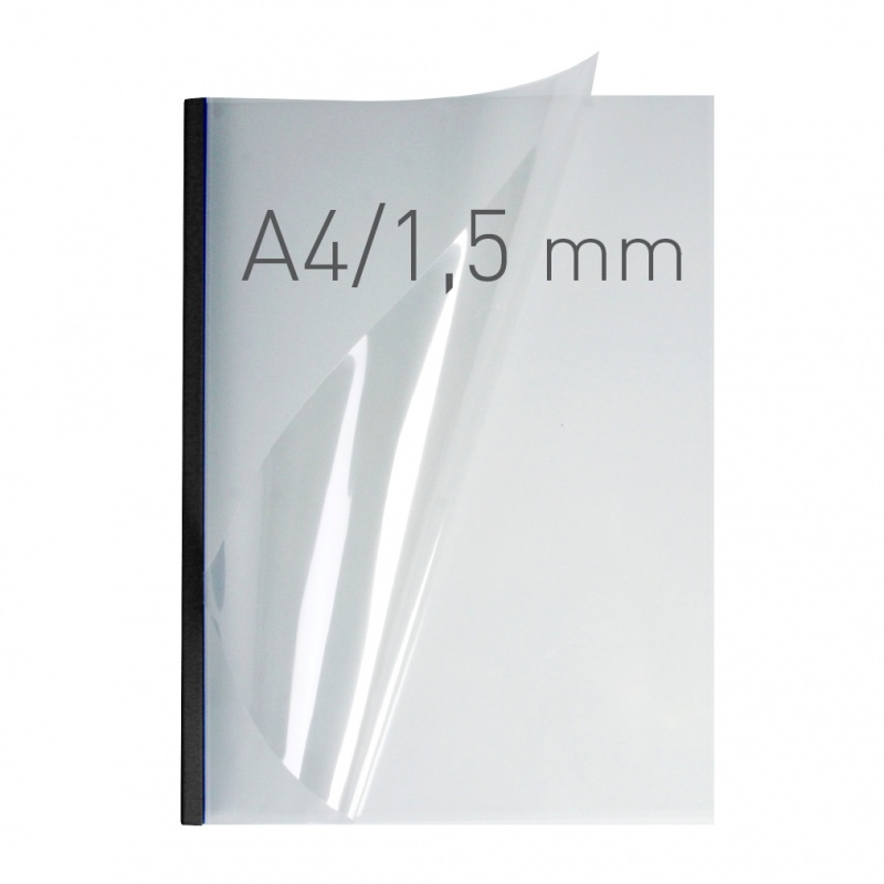 Opus Metalbind Covers Clear Gloss With Black Spine 1.5mm - 32mm