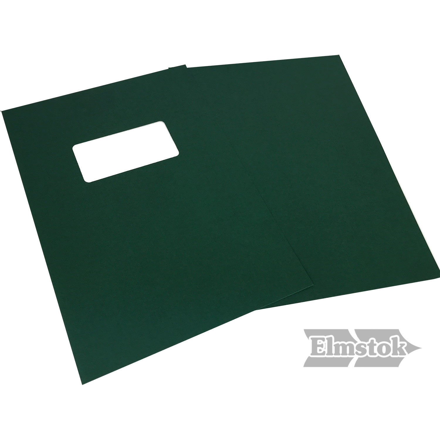 Green Linen A4 Binding Covers - Window Cut-Out (500)