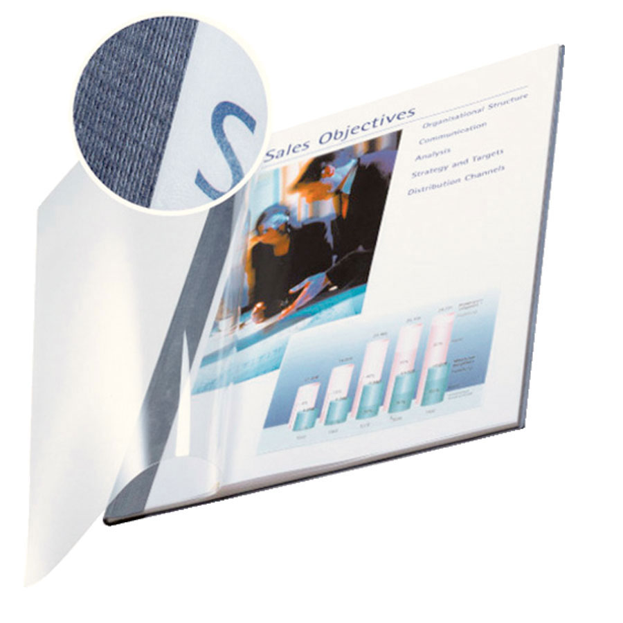 Impressbind A4 Soft Clear-Front Binding Covers - Blue (10)