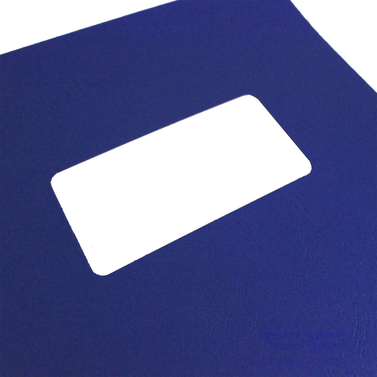 A4 Blue Leathergrain Binding Covers With Window (500)