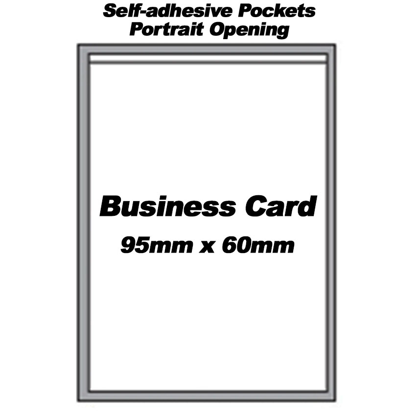 Self-Adhesive Portrait Pockets For Business Card (300)