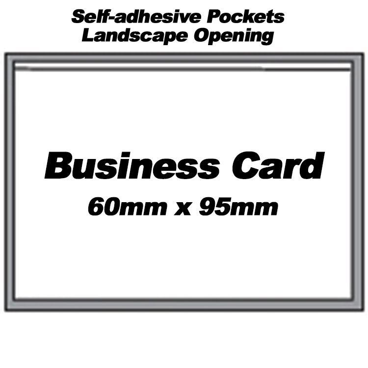 Self adhesive landscape pvc pockets to accept businesscredit cards self adhesive landscape pockets for business card 300 colourmoves