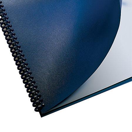 a4 gbc regency blue leatherette binding report covers 100 elmstok
