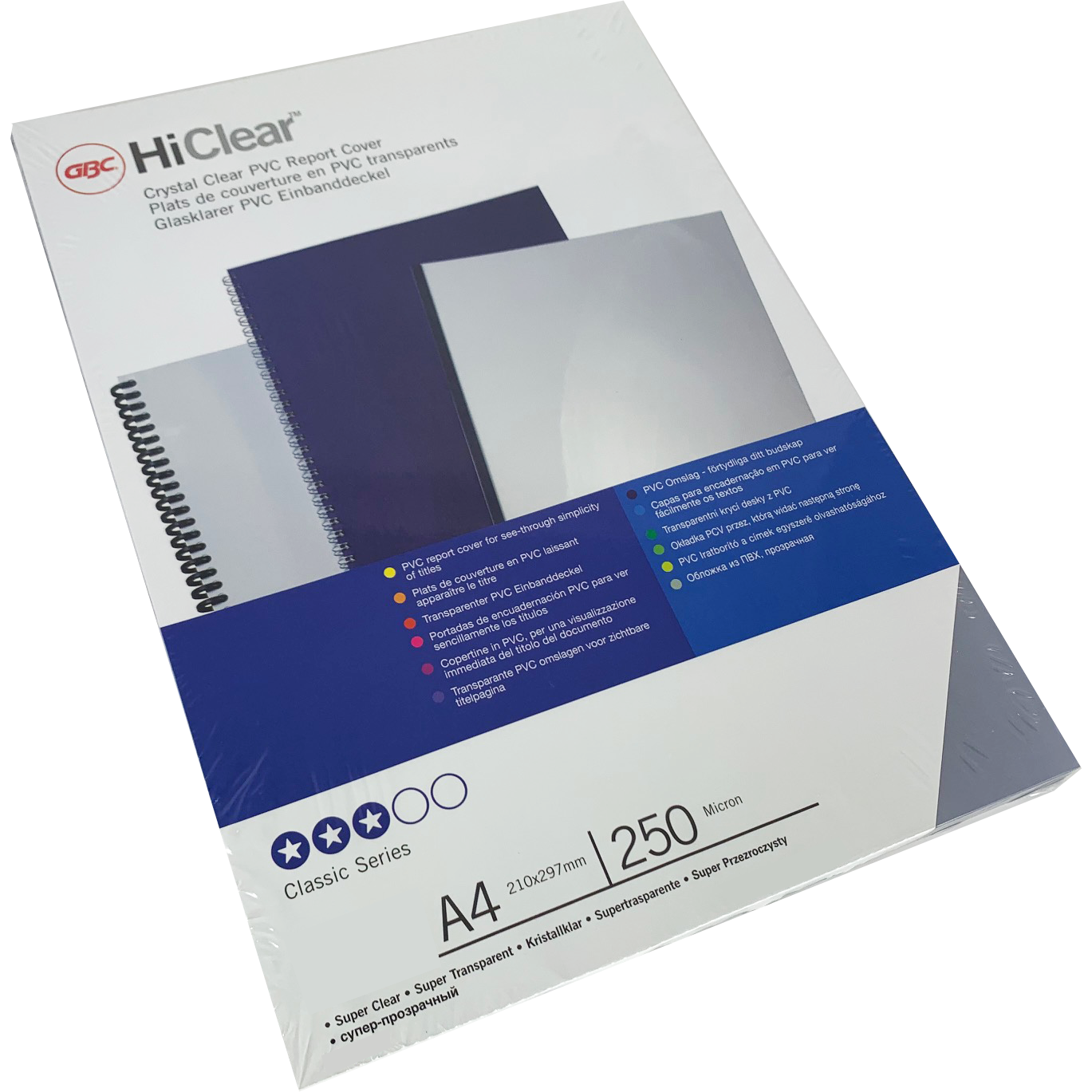 Branded HiClear PVC 250Mic Super-Clear PPE Sheets Bulk Pk (1000)