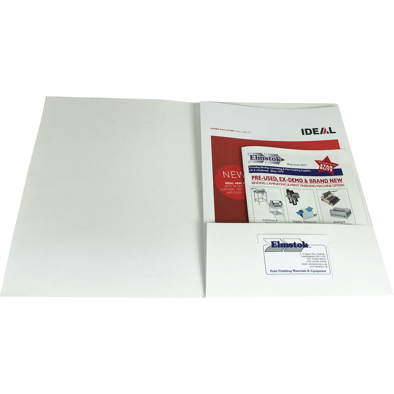 Customise-It folders can hold up to 20 sheets including a business card holder