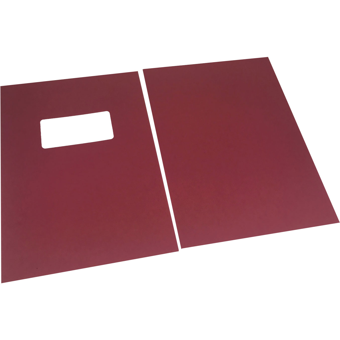 Dark Red Linen A4 Binding Covers - Window Cut-Out (500)