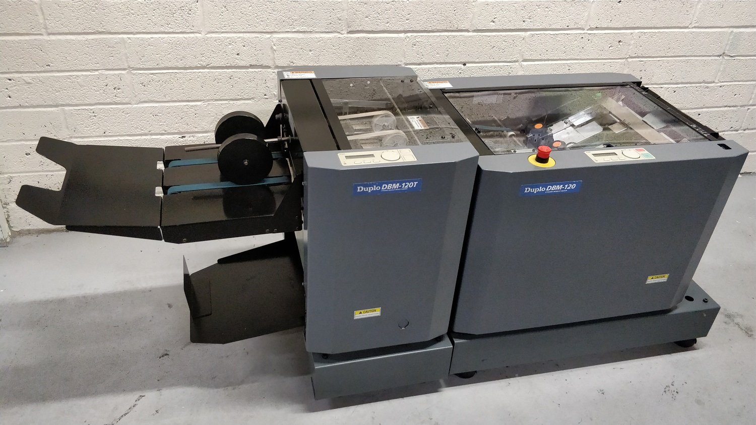 Pre-owned Duplo DBM120 Hand-Fed Booklet-Maker & DBM-120T Trimmer