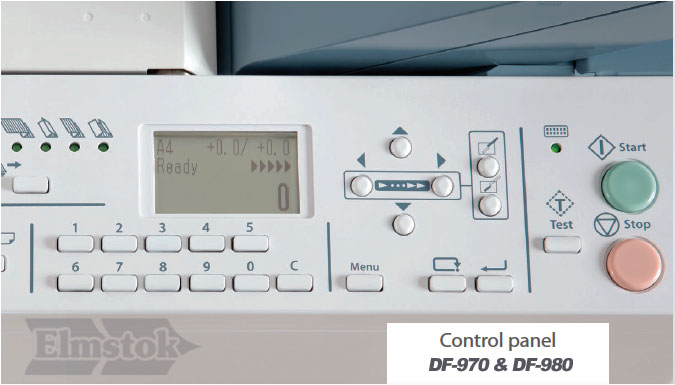 DF-980 Simple To Use Control Panel