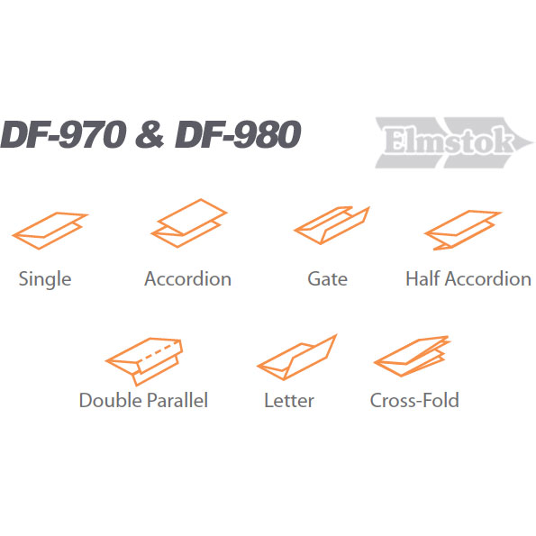Pre-set Fold Types Of DF-980 Folding Machine.