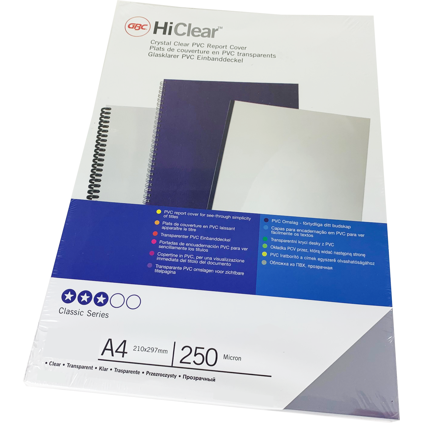 Branded HiClear PVC 250Micron Clear PPE Sheets Bulk Pack (1000)