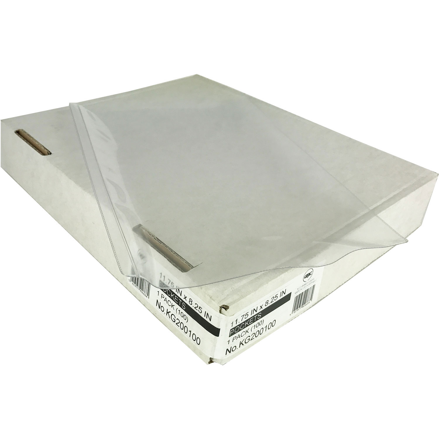 KG200100SC Clear PVC Binder Pockets A4 Overall (100)