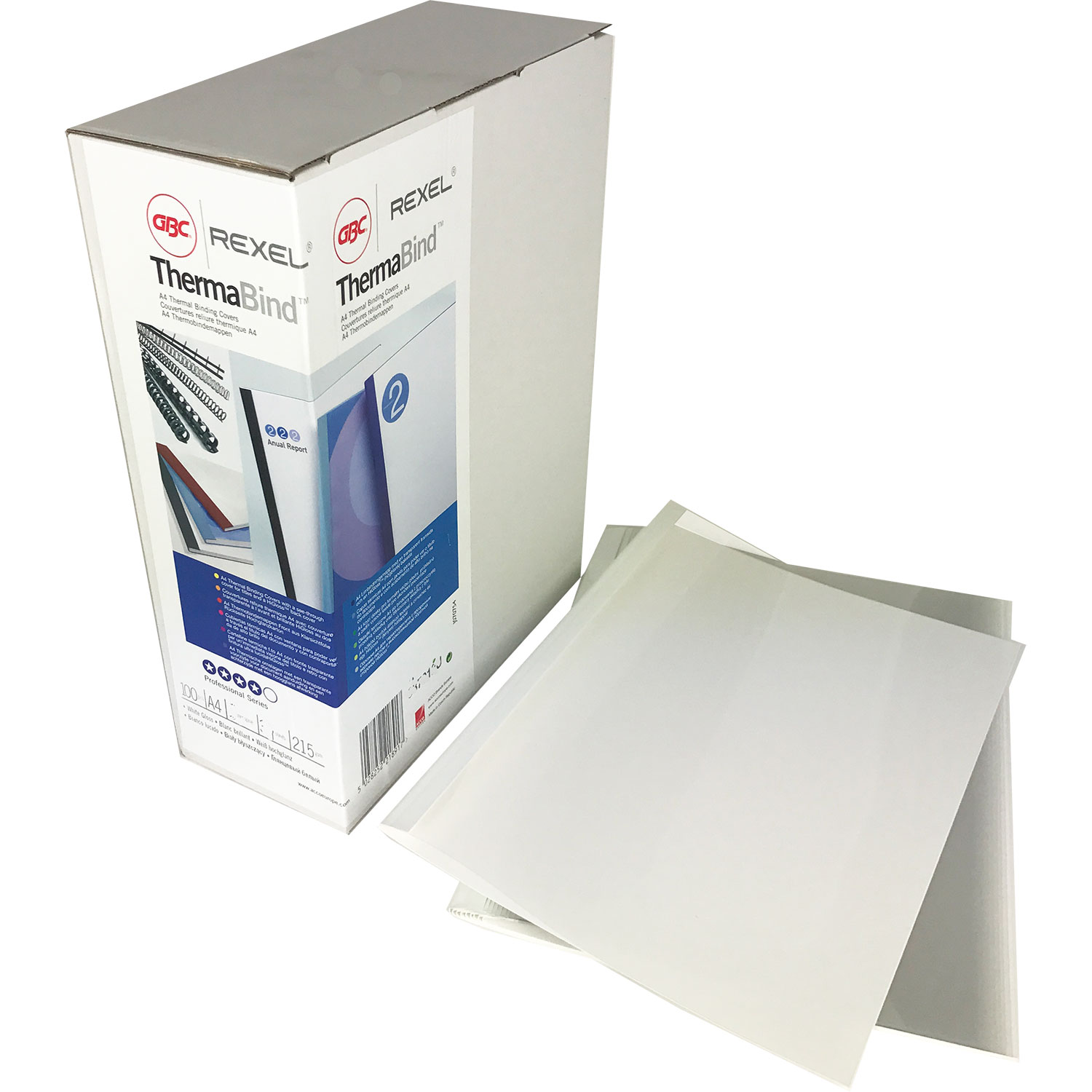 GBC 3mm White Gloss Thermal Binding Covers 387012U (100)