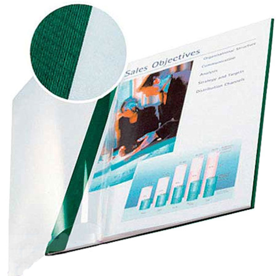 Impressbind A4 Clear-Front Binding Covers - Green (10)