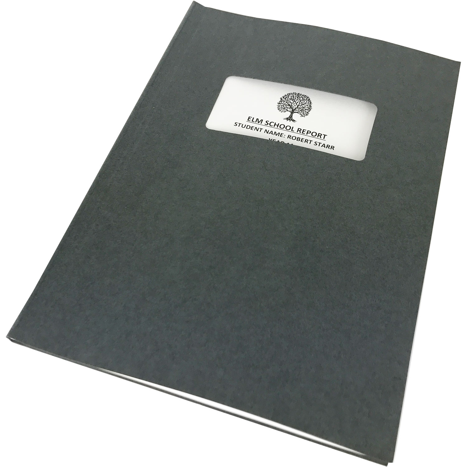 Channelbind A4 Soft-Window Cut-Out Binding Covers - Grey