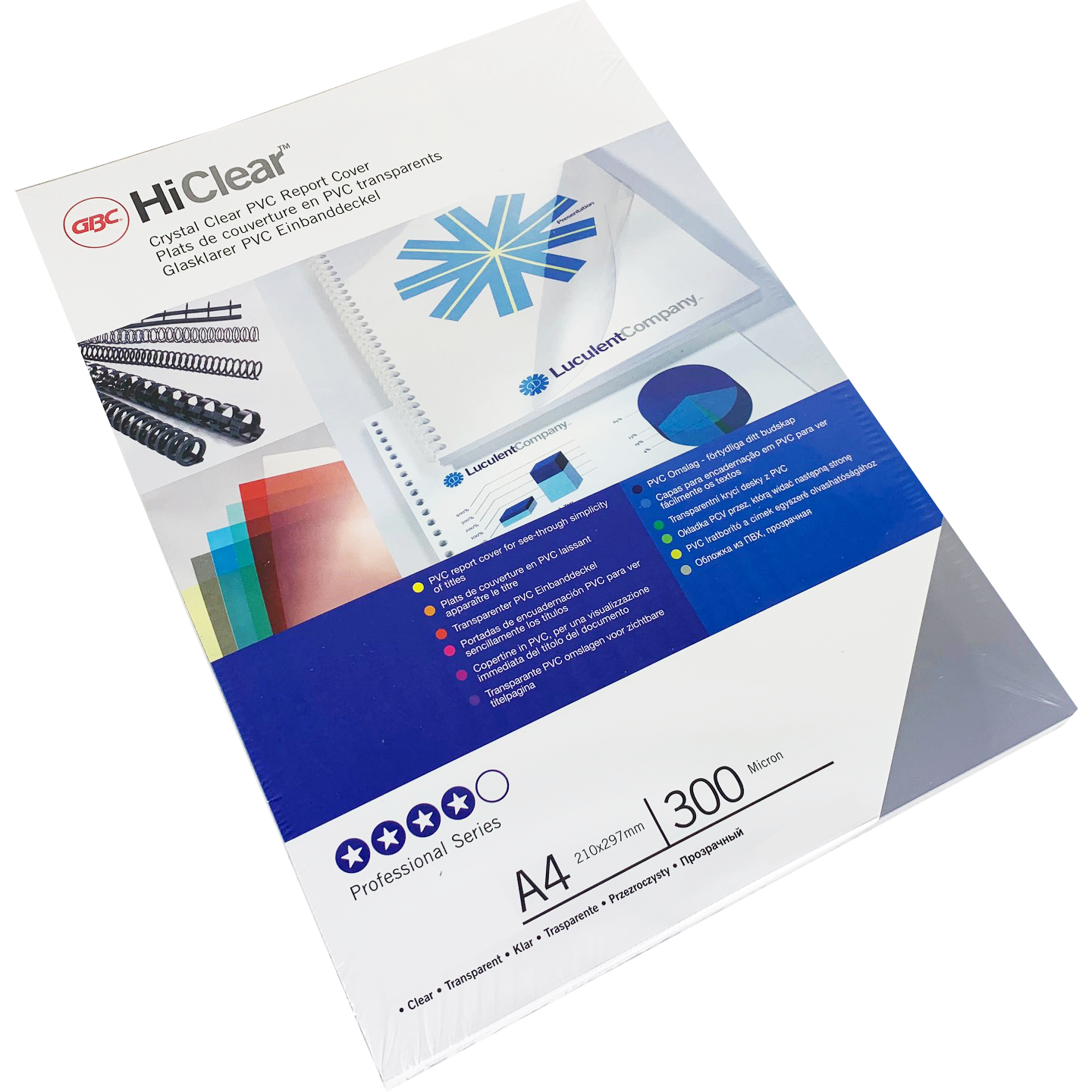 Branded HiClear PVC 300Micron Clear PPE Sheets Bulk Pack (1000)