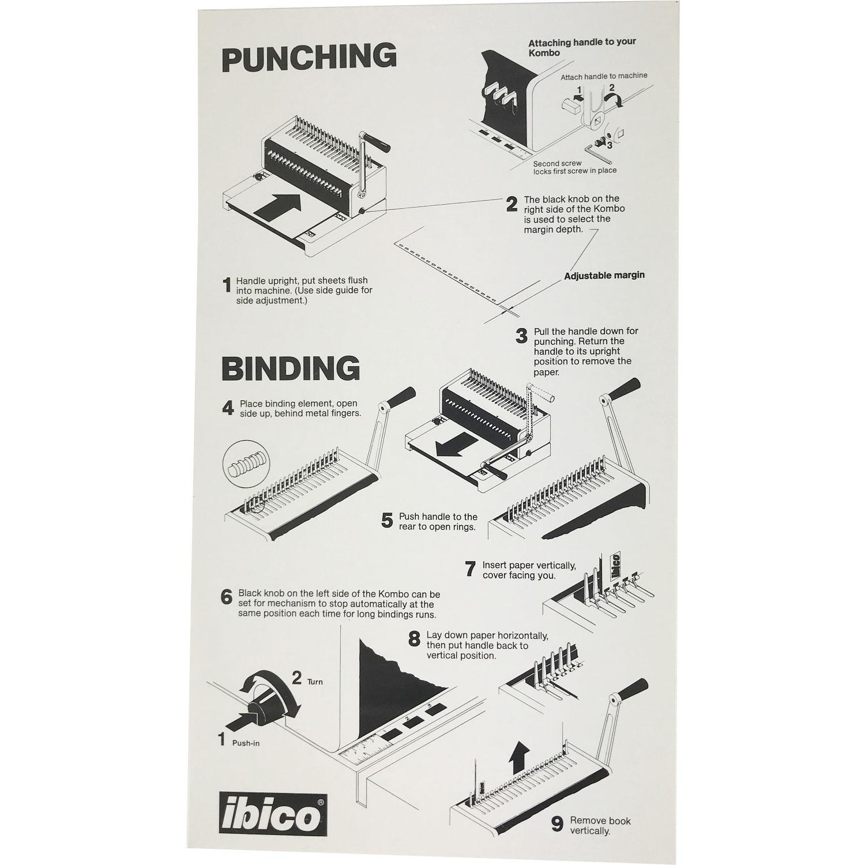 GBC / Ibico Kombo C250Pro/PB21 Manual Plastic-Comb Binding