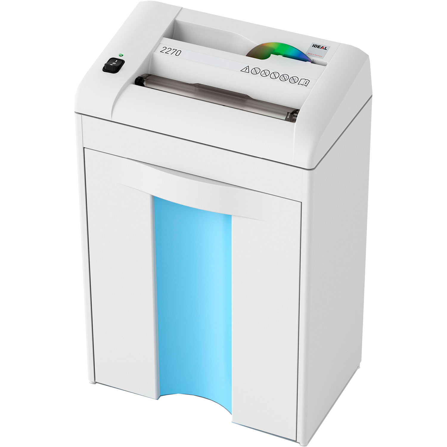 IDEAL 2270CC 3 x 25mm Cross Cut Deskside Paper & CD/DVD Shredder
