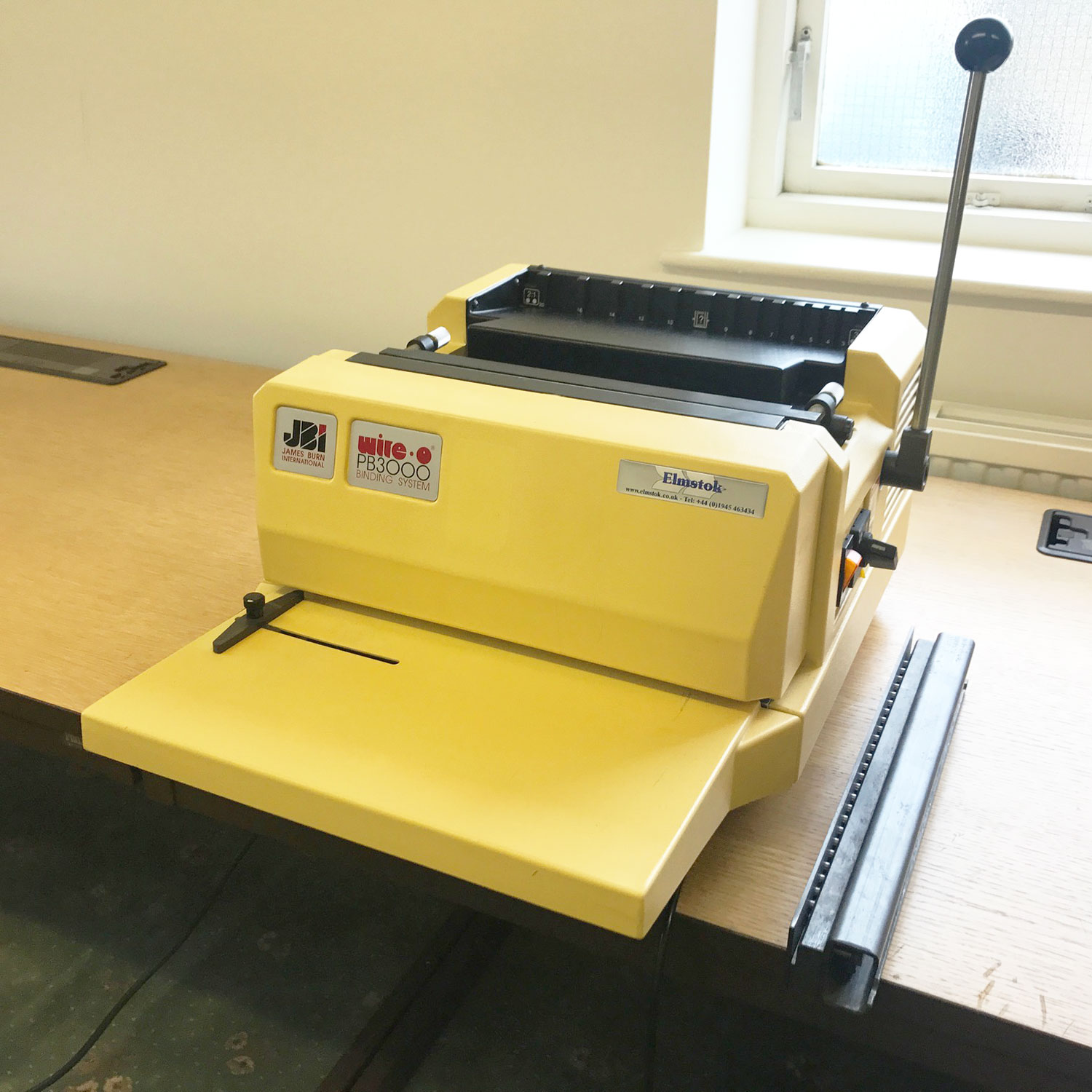 Pre-used James Burn PB3000 Wire-O Binding Punch Machine