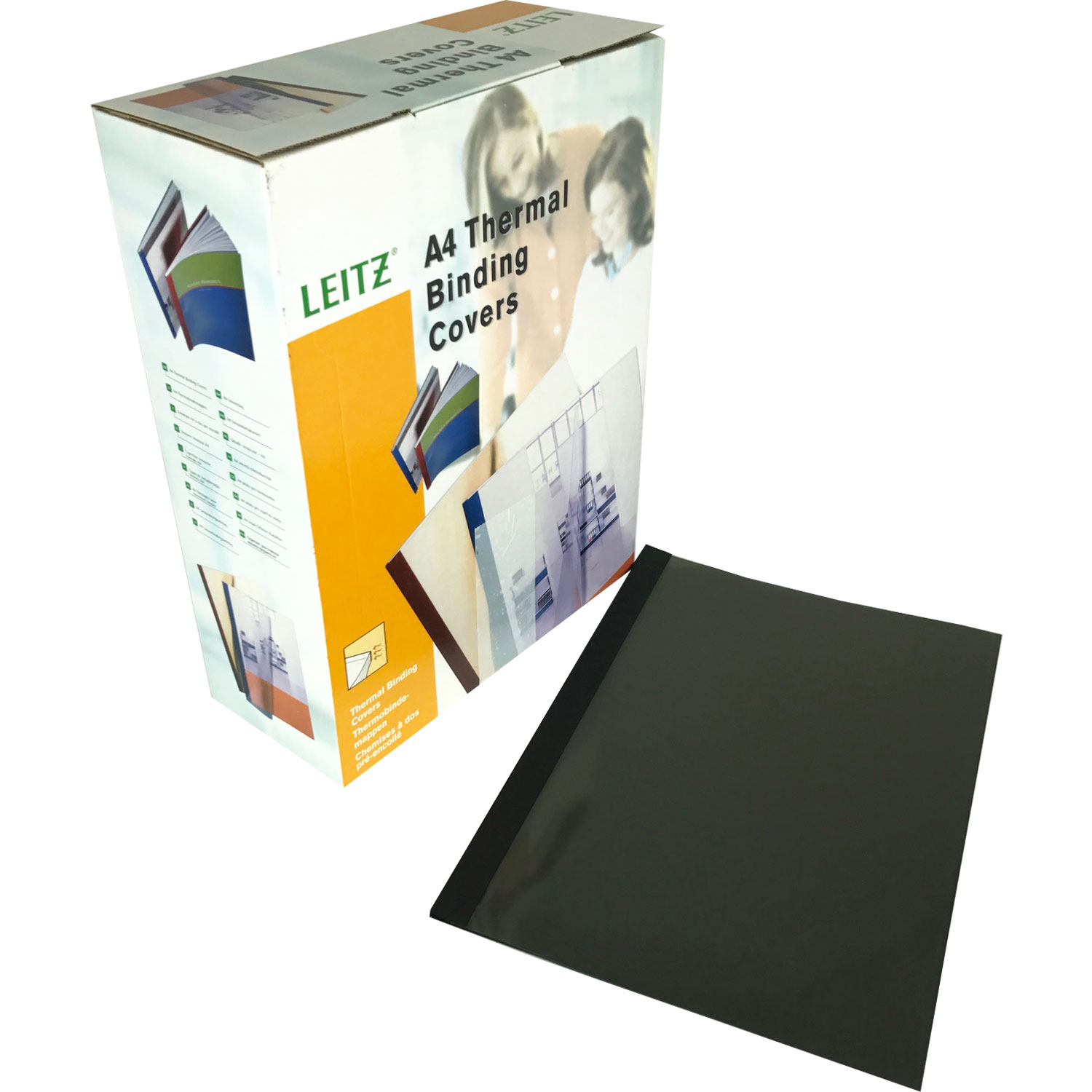 Leitz A4 Black Linen Thermal Binding Covers (100)