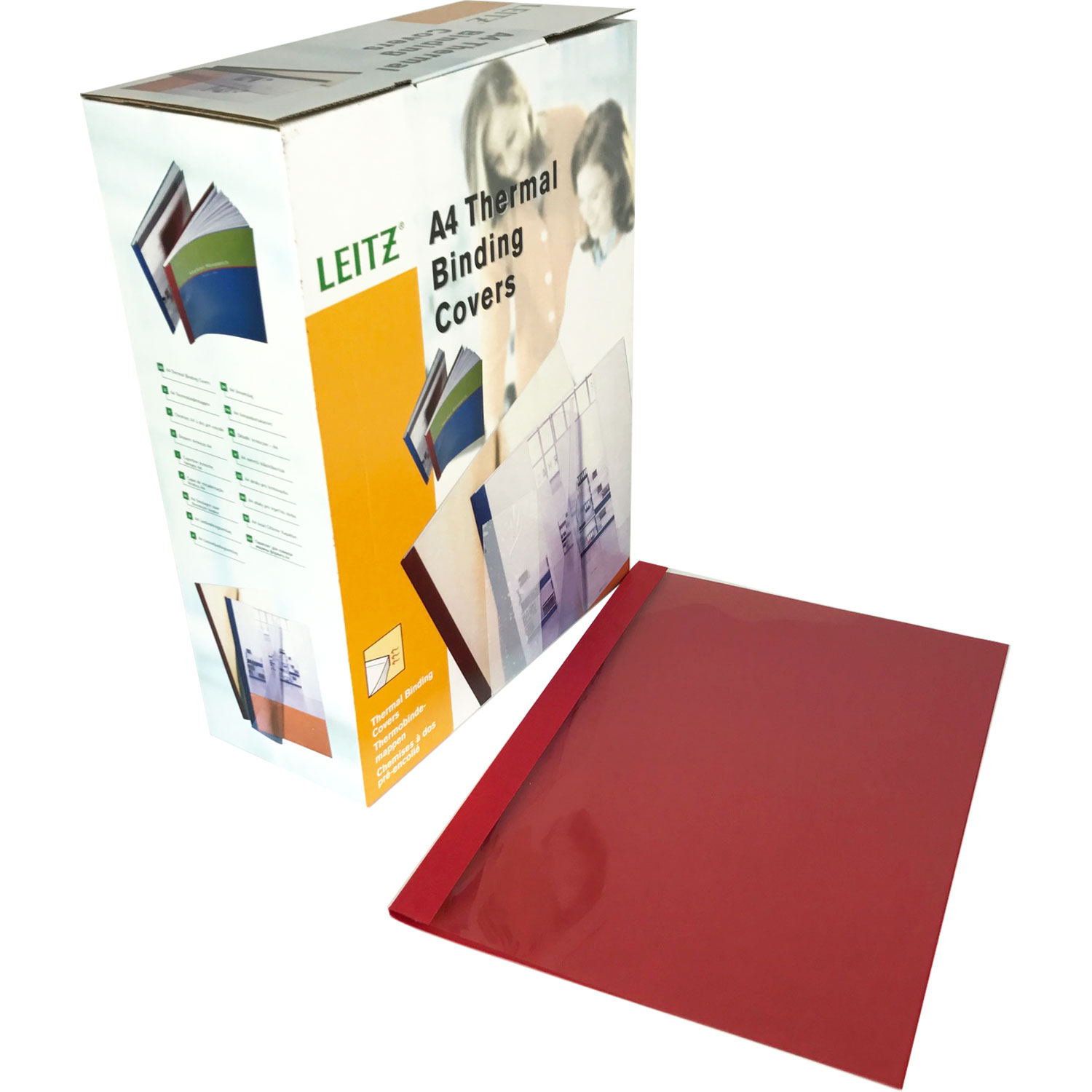 Leitz A4 Red Leathergrain Thermal Binding Covers (100)