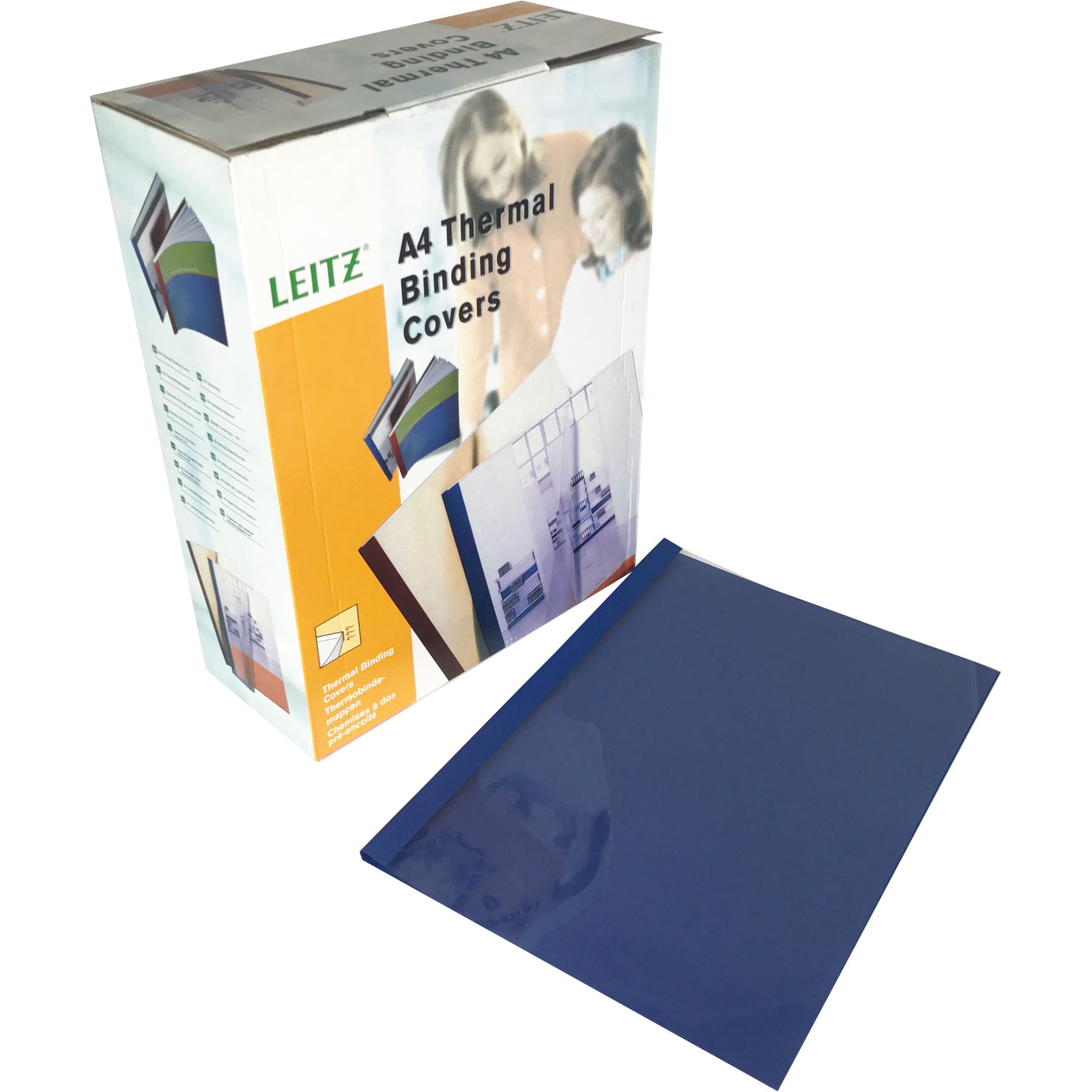 Leitz A4 Blue Linen Thermal Binding Covers (100)