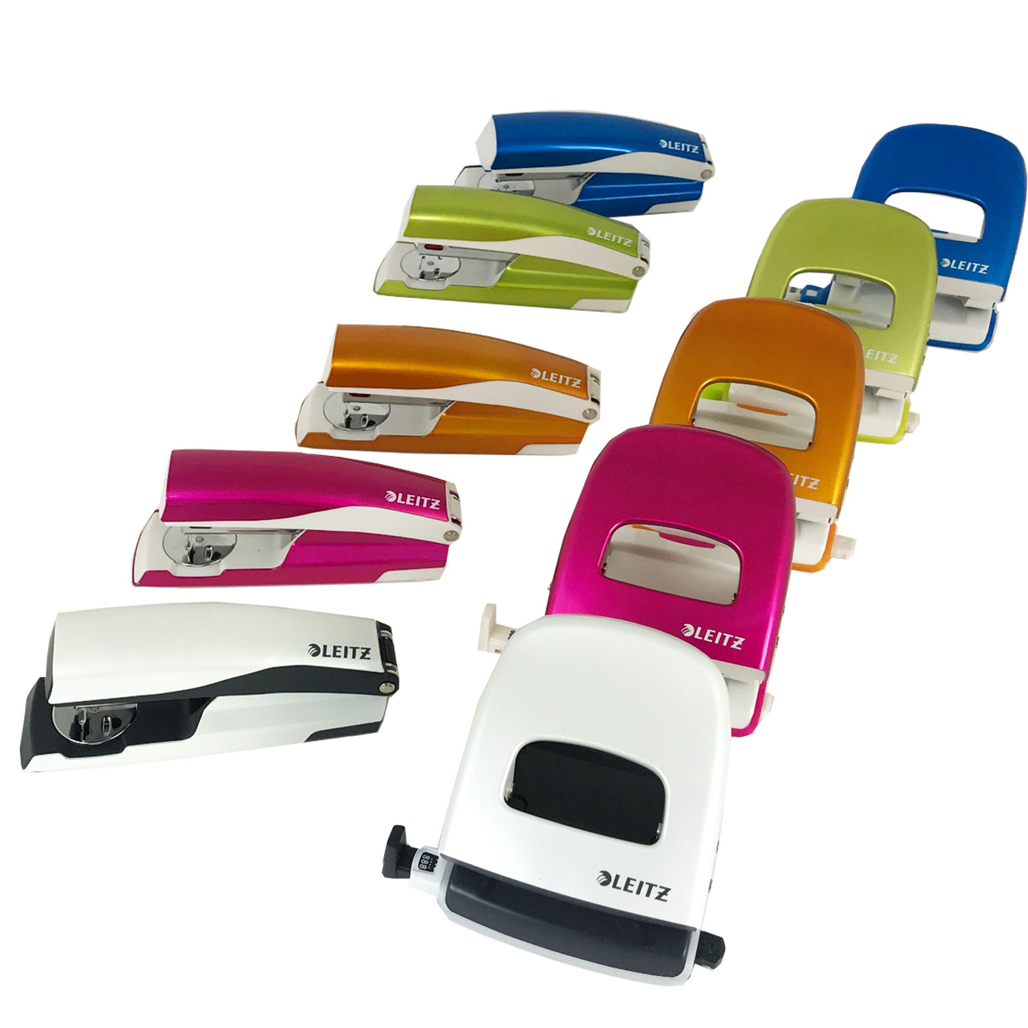 Leitz Wow NeXXT Stapler & Punch Set