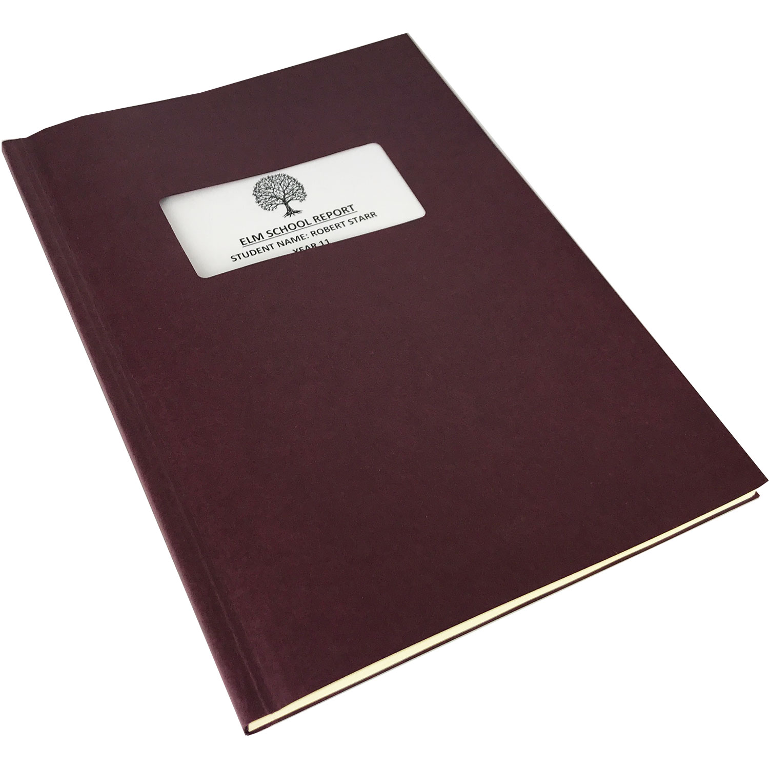 Channelbind A4 Soft-Window Cut-Out Binding Covers -Burgundy (50)