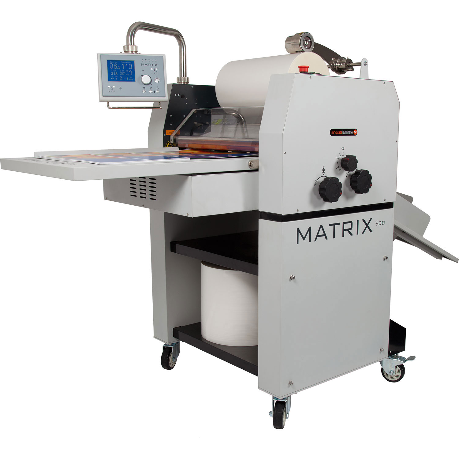 Matrix MX-530DP Duplex Pneumatic Roll Laminator