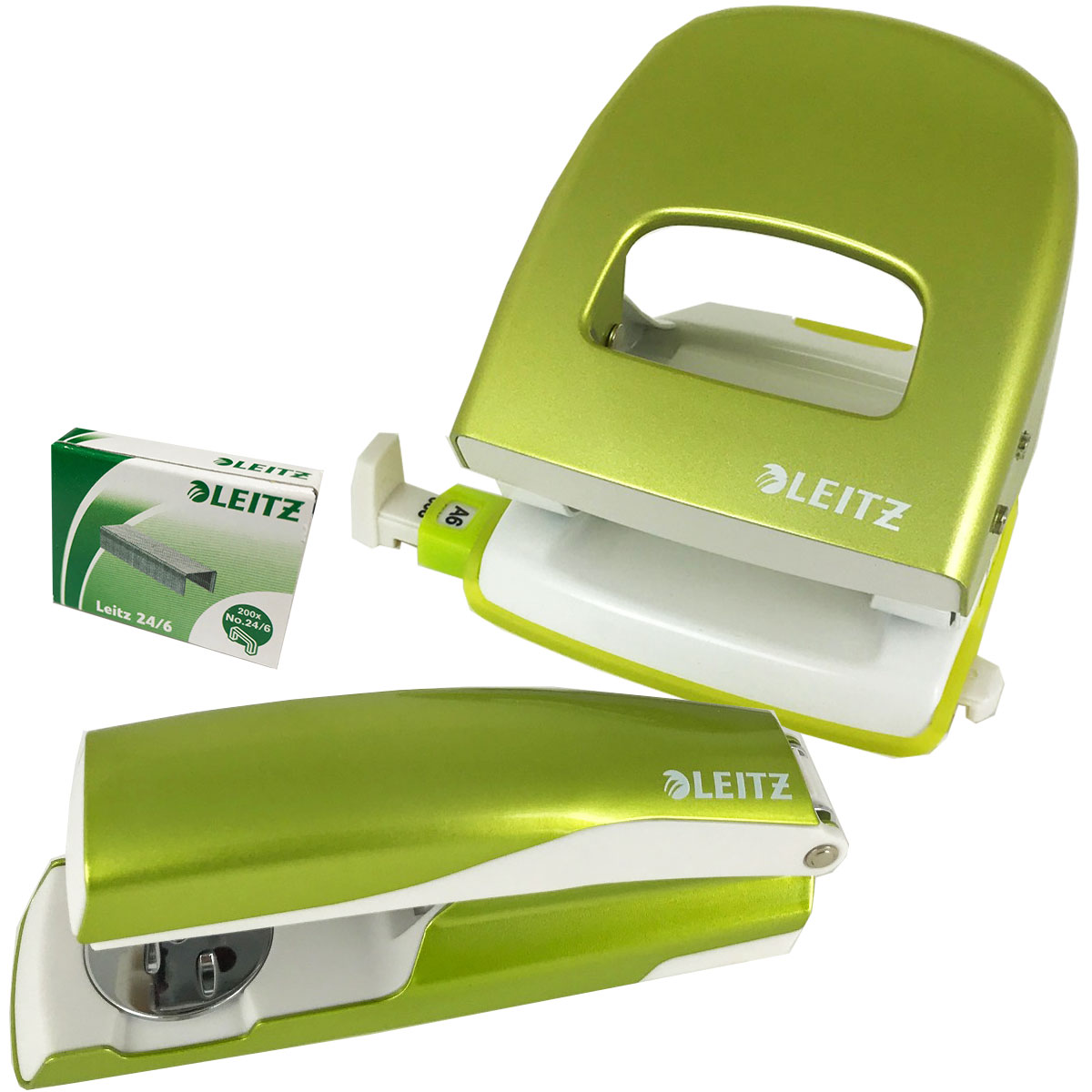 Metallic Green Punch & Stapler Set