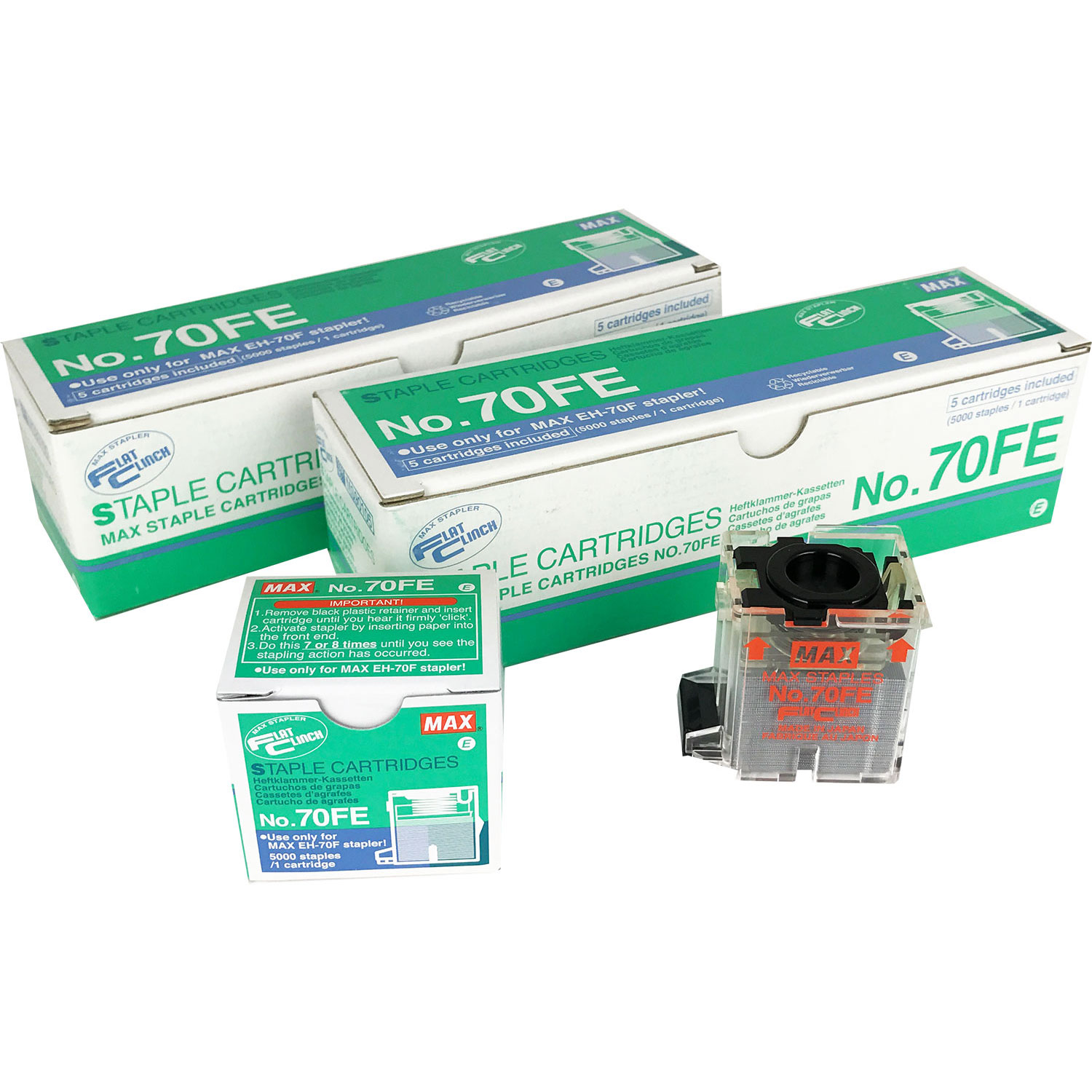 MAX 70FE Staple Refill Cartridges (10 Pk.)