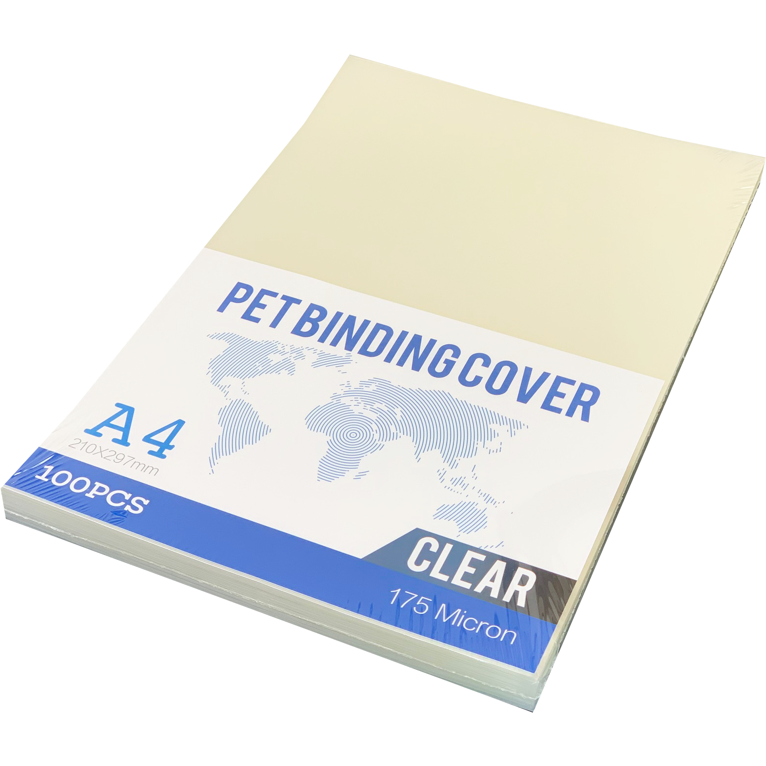 PET Crystal Clear A4 Binding Sheets 175Micron (100)
