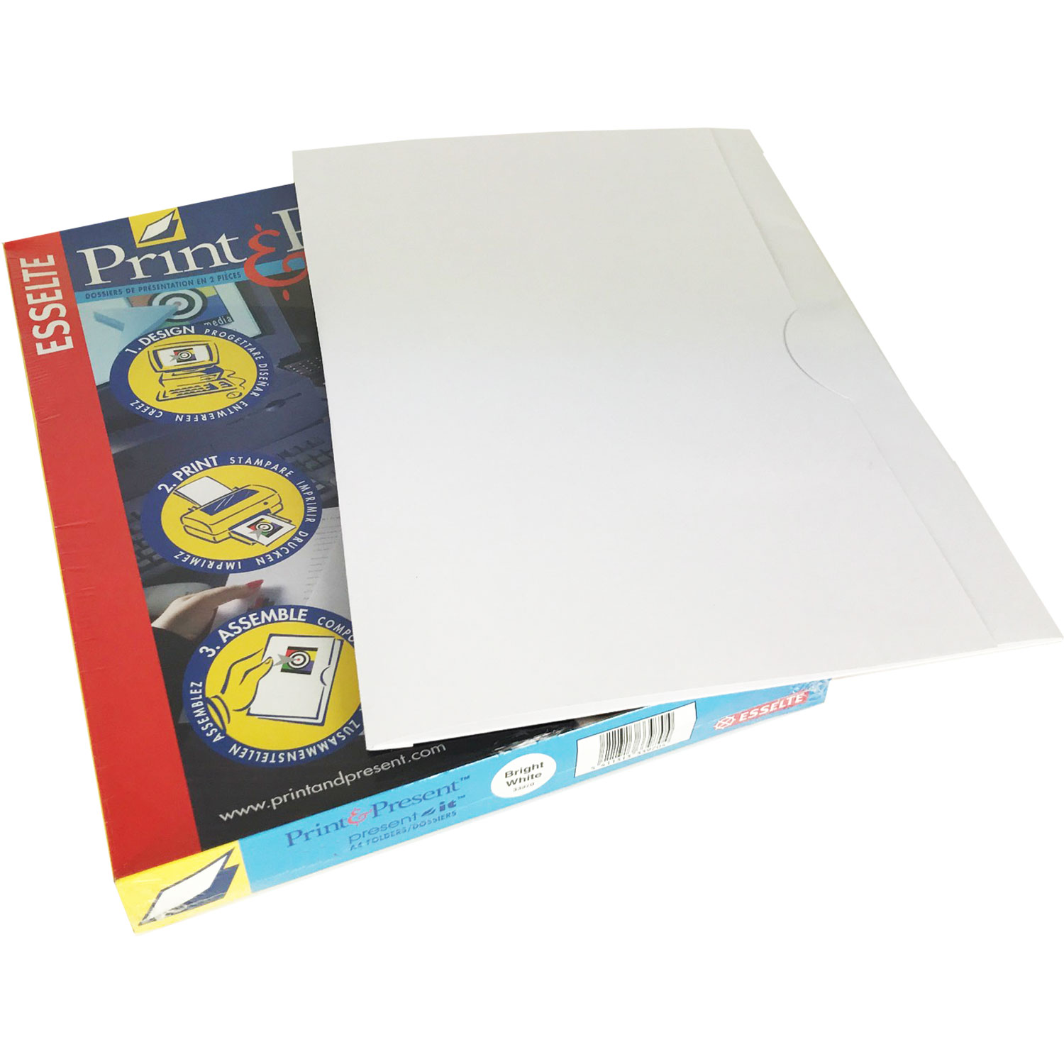 Print & Present-It Presentation Folders Bright-White (100)