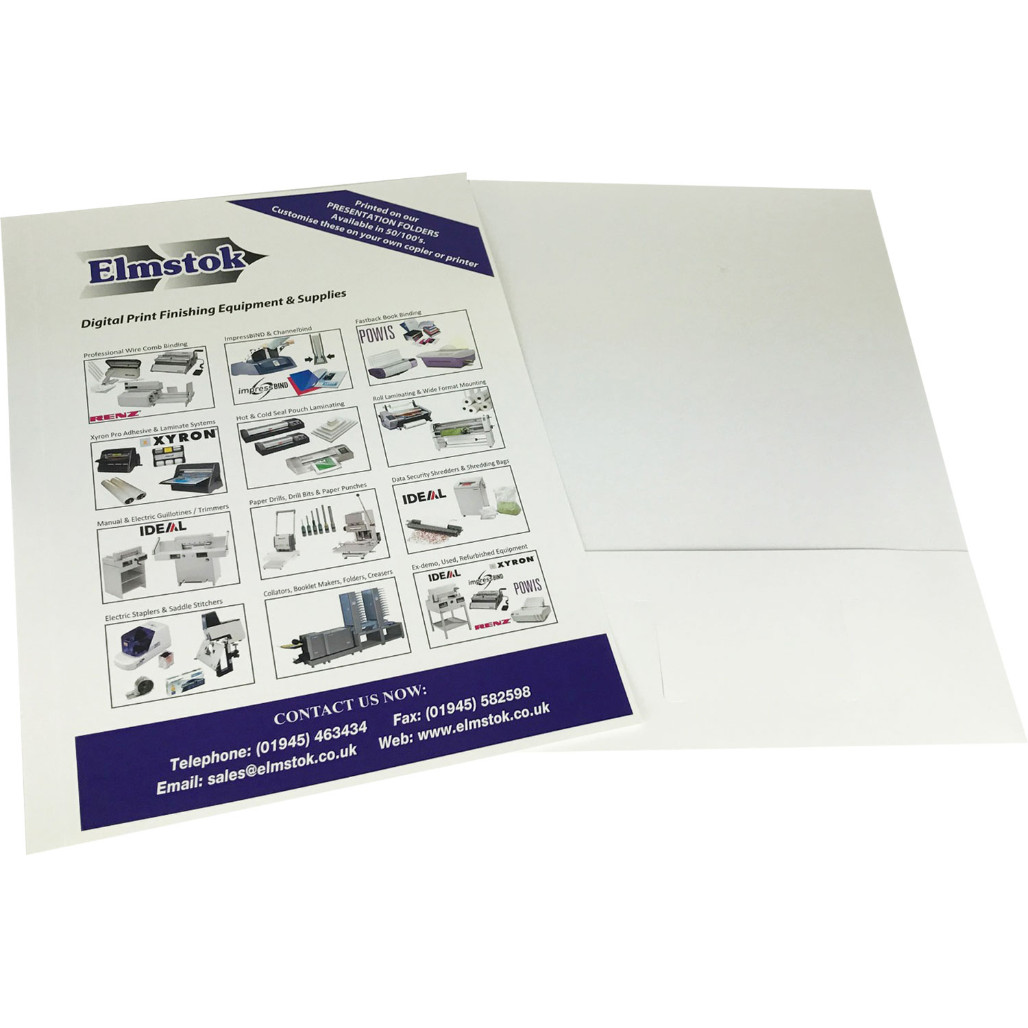 Simply Attach front and back folder piece together after printing
