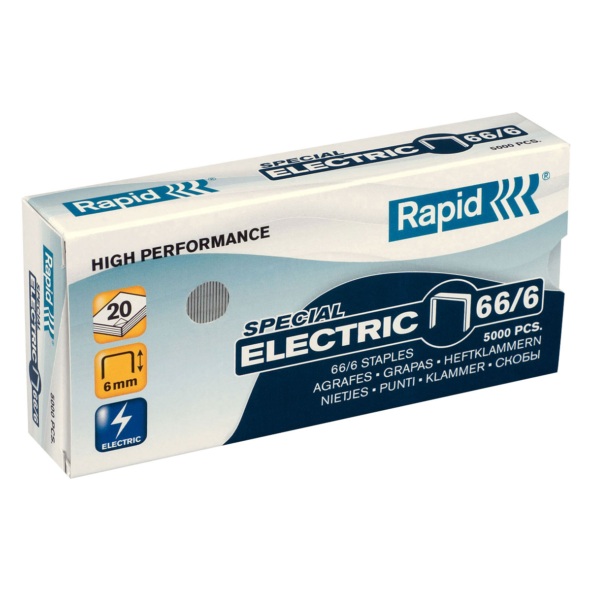 Trade Box Rapid 66/6 Staples (12 Packs)