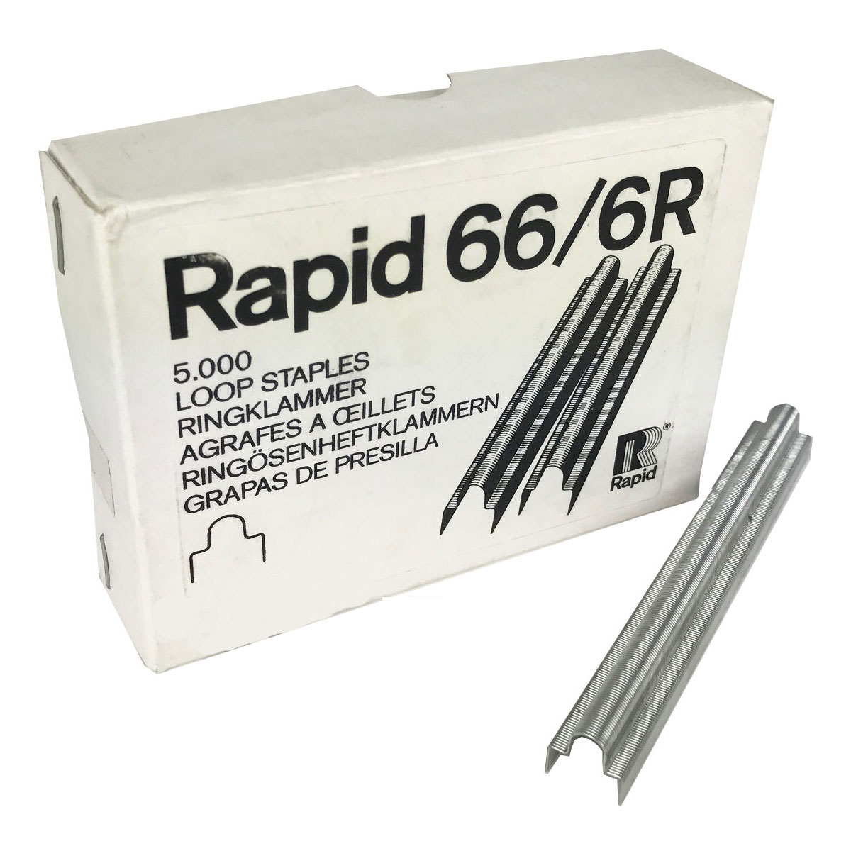 Rapid 66/6Ri Steel Loop Staples (5,000)