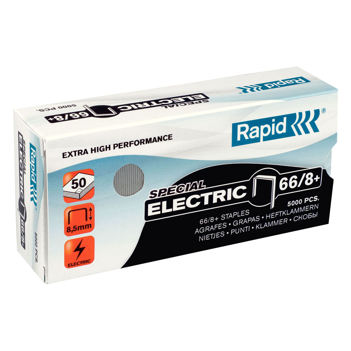 Trade Box Rapid 66/8 Staples (12 Packs)