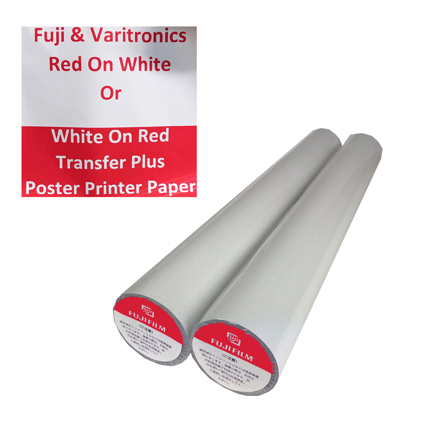 Fuji Red On White TTP Thermal Paper Rolls (2)