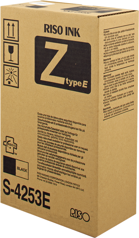 Riso Z-Type S-4253 MZ Black Ink - Box 2