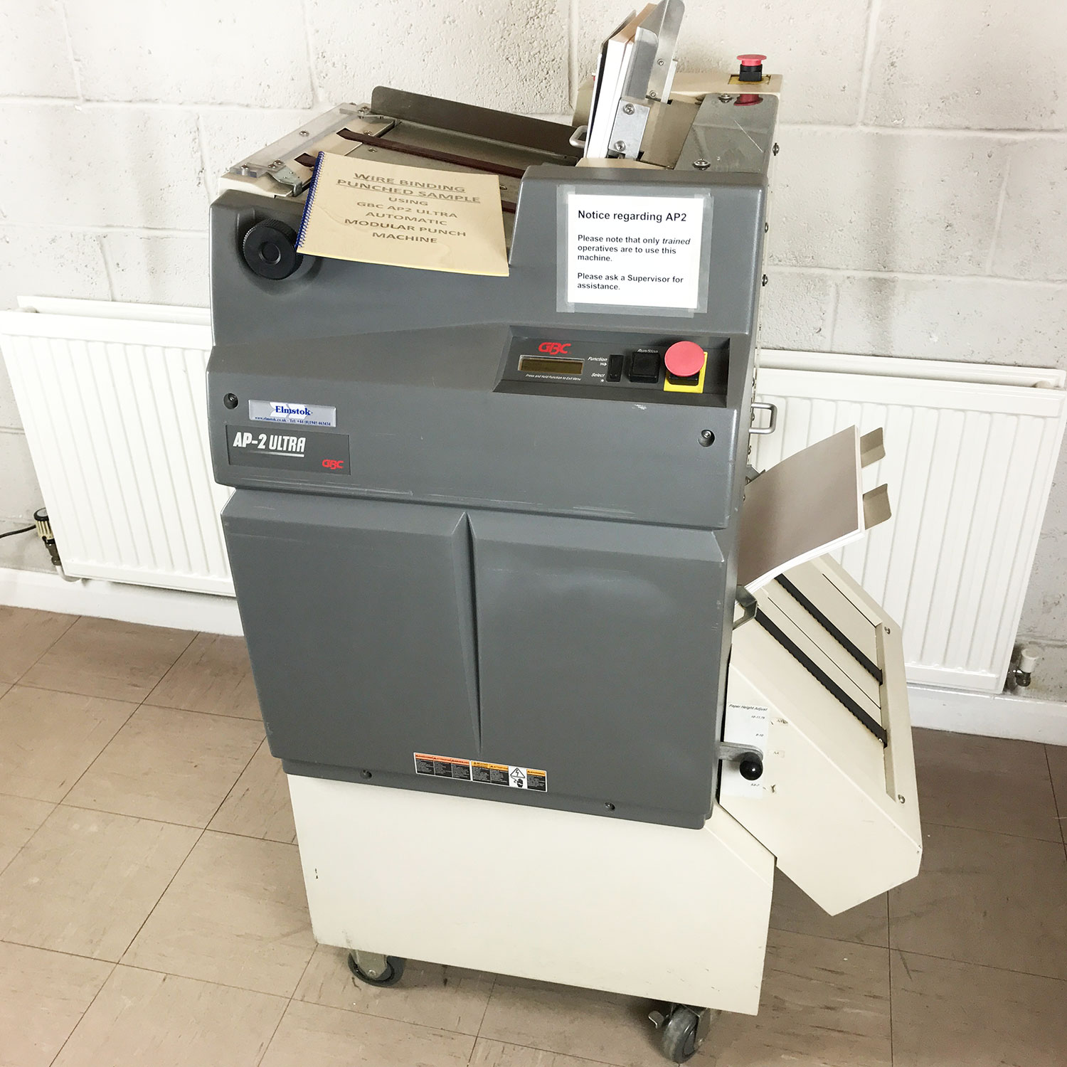 Pre-used GBC AP2-Ultra Automatic Wire Binding Punch