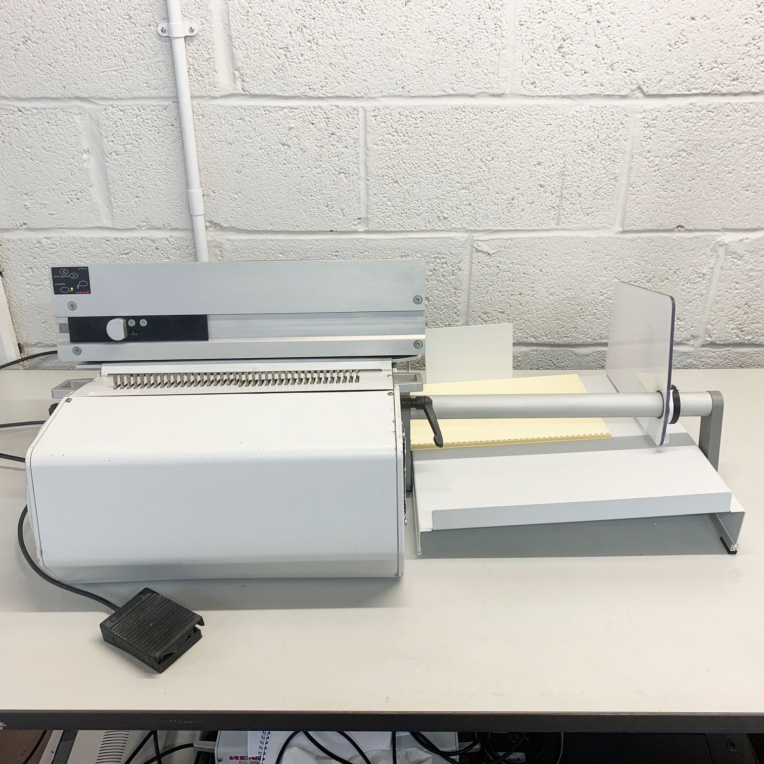 Pre-owned Renz DTP340A Semi-Auto Document Binding Punch Machine