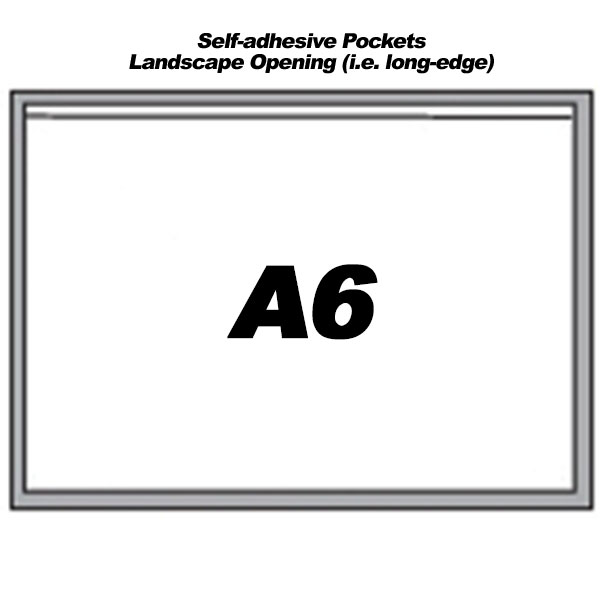 Self-Adhesive Landscape Pockets For A6 Sheets (300)
