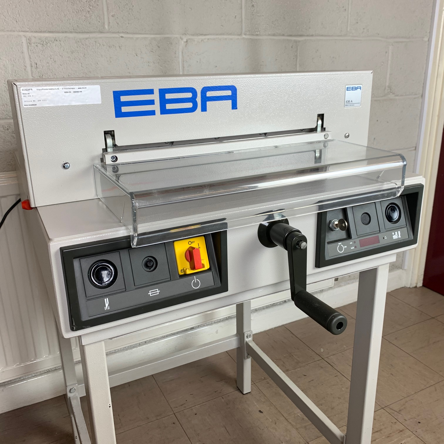 Pre-owned EBA 436A Electric Desktop Guillotine