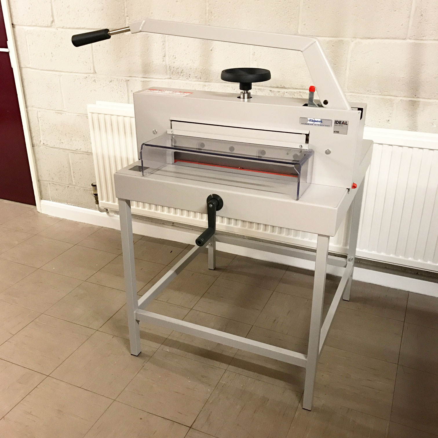Used IDEAL 4705 Manual Guillotine Incl. Stand
