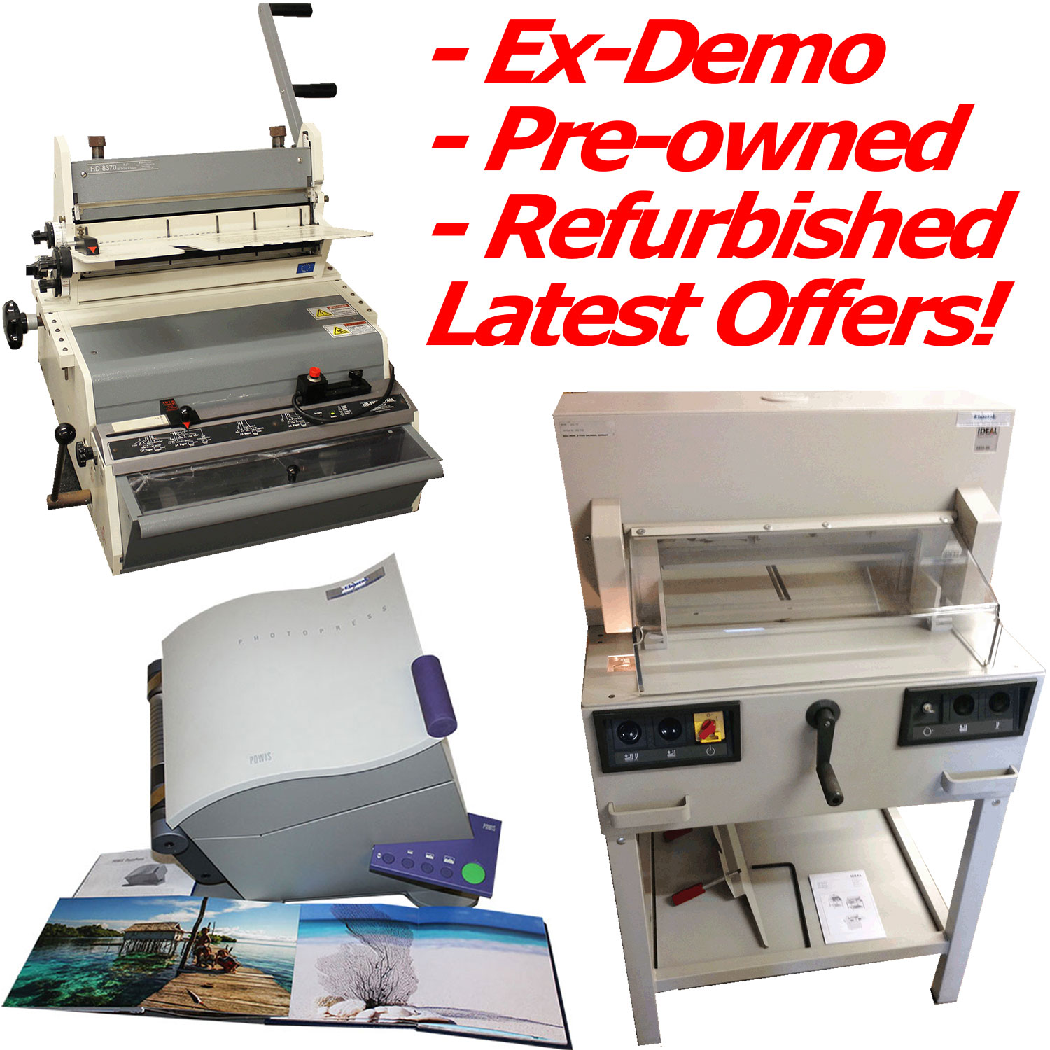 Used, Pre-owned, ExDemo Machines