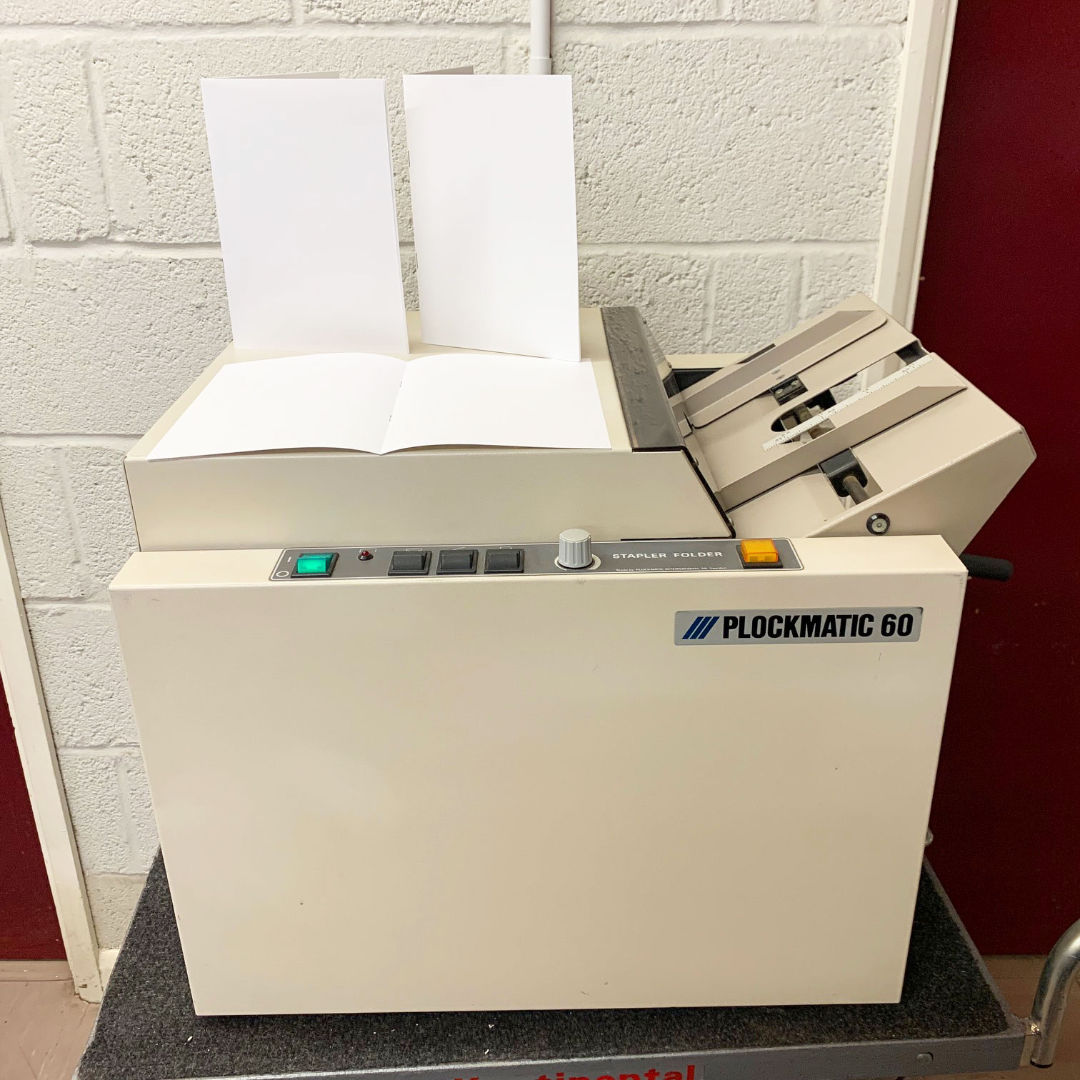 Used Plockmatic 60 Table-Top Electric Booklet Maker-60141620
