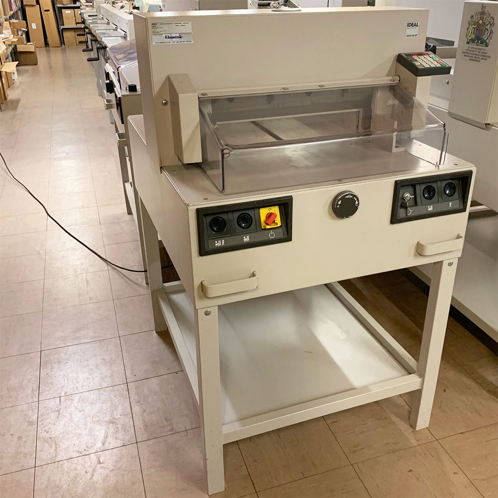 Pre-owned IDEAL 4850-95EP Programmable Guillotine
