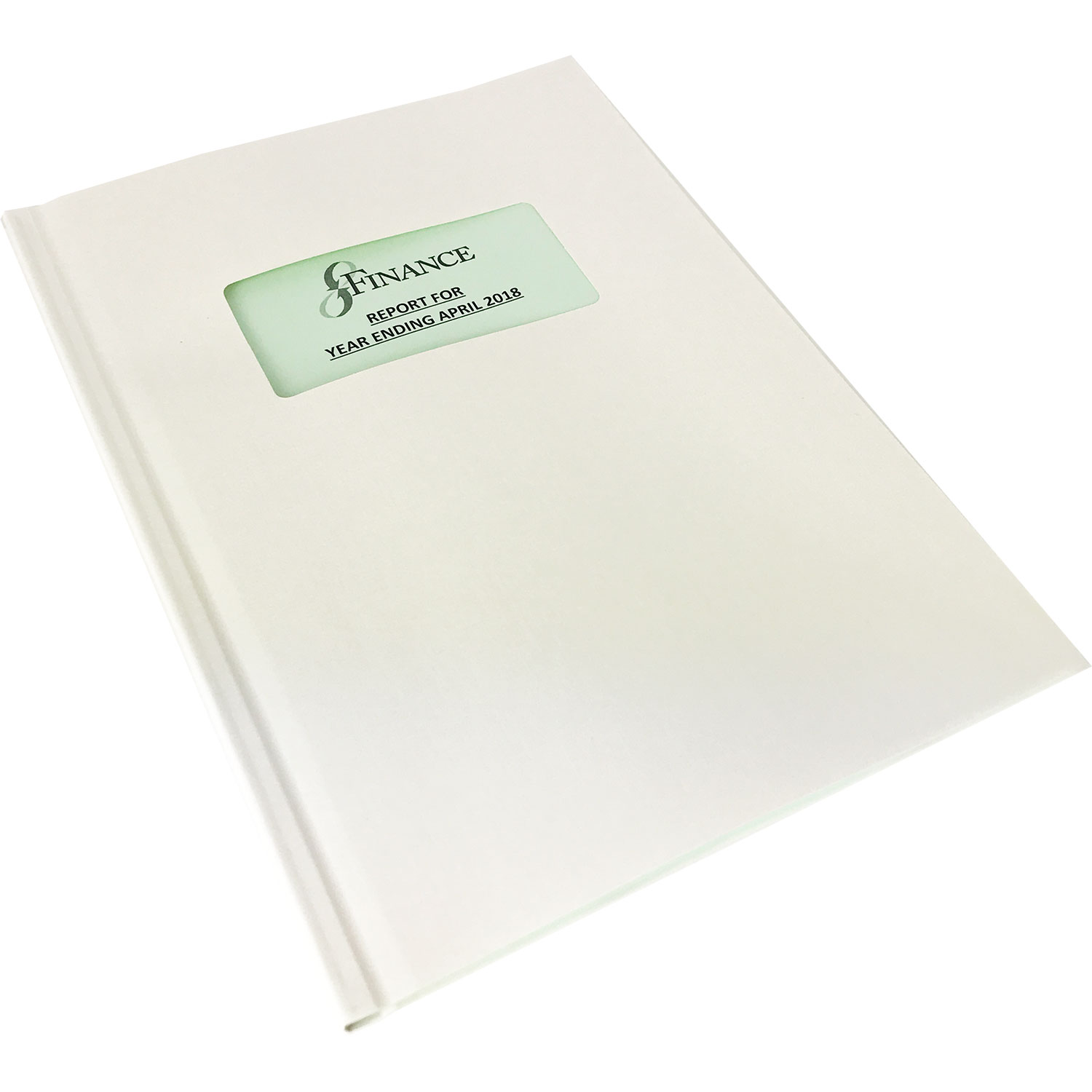 Channelbind A4 Soft-Window Cut-Out Binding Covers - White